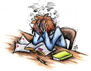 studystress cartoon