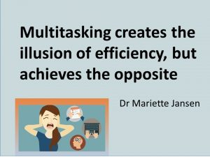 Multitasking is a myth, even for a Super Woman