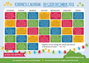 Create your happiness through acts of kindness