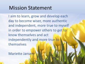 Coaching programme to find your mission and purpose